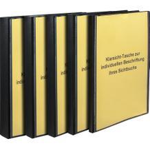 Sichtbücher mit Vordertasche, schwarz, Rückenbreite 10 mm