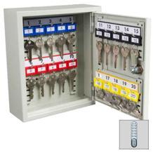 Schlüsselschrank mit Elektronikschloss - 1-türig - 20 bis 300 Schlüsselhaken