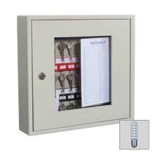 Schlüsselschrank - Ausschnitt Plexiglas - Elektronikschloss - 30-50 Schlüsselhaken