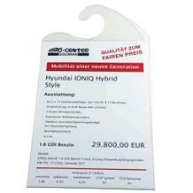 Preisblatt-Tasche - für Innenspiegel - DIN A4 hoch - Haken