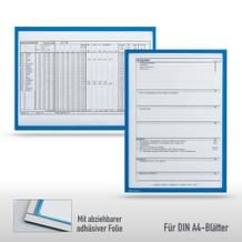 Infotaschen DIN A4 - mit 2-fach Nutzen (Magnet und Adhäsiv)
