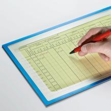 Info-Taschen magnetisch - mit Ausschnitt zum Schreiben