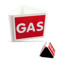 """Leitzahlträger """"GAS"""" mit Magnethaftung"""