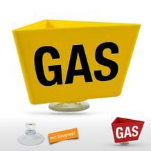 """Kennzeichnungs-Träger  """"GAS"""" mit Saugnapf"""