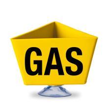 """Kennzeichnungsträger - """"GAS"""" - mit Saugnapf - 2 Farben Gelb und Rot"""