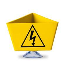 """Kennzeichnungsträger - """"Blitz-Symbol"""" - mit Saugnapf - 2 Farben Gelb und Rot"""