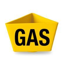 """Kennzeichnungsträger - """"GAS"""" - ohne Magnethaftung - 2 Farben Gelb und Rot"""