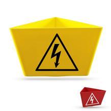 """Magnet-Kennzeichnungsträger """"Blitz-Symbol"""""""