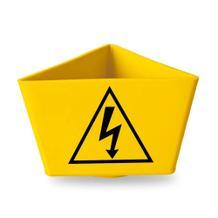 """Kennzeichnungsträger - """"Blitz-Symbol"""" - mit Magnethaftung - 2 Farben Gelb und Rot"""