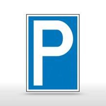 Parkplatzschild Symbol: P