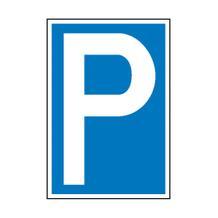 Parkplatzschild - Symbol: P