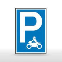 Parkplatzschild Symbol: P - Motorrad (Symbol)