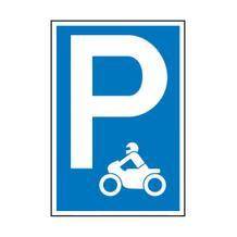 Parkplatzschild - Symbol: P - Motorrad