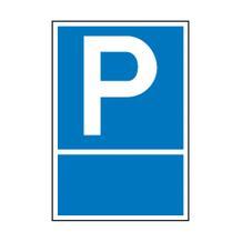 Parkplatzschild - Symbol: P - mit Freifläche zur Selbstbeschriftung