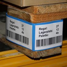 Kennzeichnungstasche für Palettenfüße