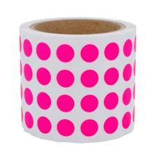 Runde Papieretiketten - Ø 15 mm - permanent klebend - 6 Farben
