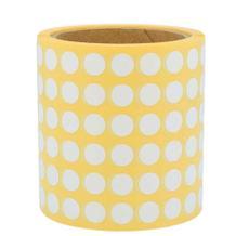 Runde Papieretiketten - Ø 12,5 mm - permanent klebend - Weiss