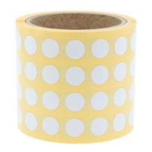 Runde Papieretiketten - Ø 20 mm - permanent klebend - 6 Farben