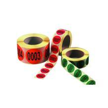 Fortlaufend nummerierte Etiketten - Nummerierung von 0001-1000 - verschiedene Farben