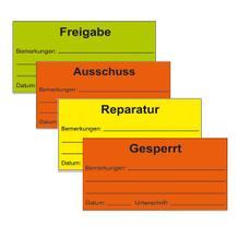 QS-Etiketten für Bemerkungen - verschiedene Versionen