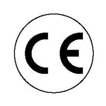 CE-Kennzeichnung - rund - Text: CE