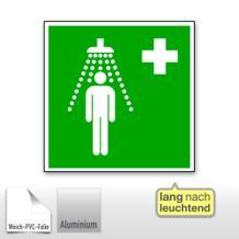 Erste-Hilfe-Schild - Notdusche, langnachleuchtend