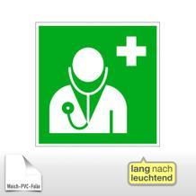 Erste-Hilfe-Schild - langnachleuchtend Arzt