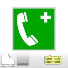 Erste-Hilfe-Schild - langnachleuchtend Notruftelefon