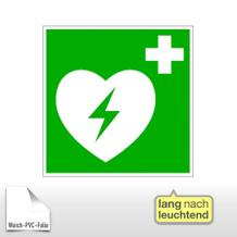 Erste-Hilfe-Schild - langnachleuchtend Automatisierter externer Defibrillator (AED)