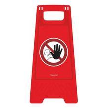Warnaufsteller ActiveWorkplace - Farbe Rot - verschiedene Motive- 2-seitig