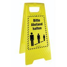 Warnaufsteller ActiveWorkplace - Farbe Gelb - 2-seitige Beschriftung - viele Motive