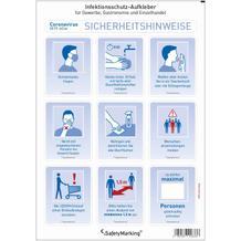 Infektionsschutz Piktogrammset - Hygieneinformationen - 2 Ausführungen