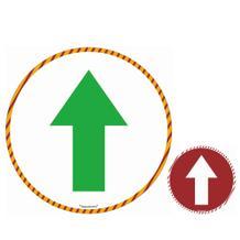 Bodenmarkierung - Hinweisschild Symbol Pfeil - Weiss - Bitte Abstand halten!