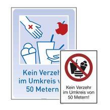 Hinweisschild - Verzehrverbot - Rechteck - 2 Ausführungen