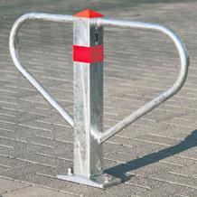 Parkbügel Sperrbügel aus Stahl, verzinkt, mit Profilzylinder