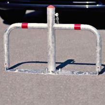 Parkbügel Sperrbügel aus feuerverzinktem Stahl, mit Profilzylinder