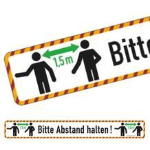 Bodenmarkierung - Wartebereich - Bitte Abstand halten! - mit Antirutschbelag