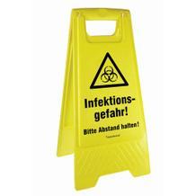 Warnaufsteller - Infektionsgefahr! Bitte Abstand halten!