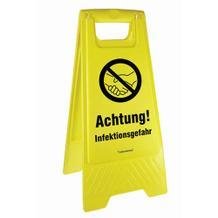 Warnaufsteller - Achtung! Infektionsgefahr!