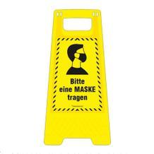 Warnaufsteller - Bitte Maske tragen! - 2-seitige Beschriftung