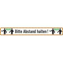 Bodenmarkierung - Antirutschbelag - Rechteck weiss - Bitte 2 Meter Abstand halten!
