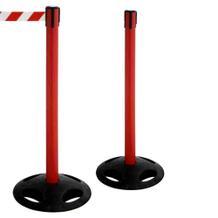 2er Set Gurtpfosten - mit 4-Wege-Gurt - Rot Rot/Weiss oder Gelb Gelb/Schwarz