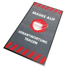 """Schmutzfangmatte - """"Maske auf - Verantwortung tragen"""" - Hochformat"""