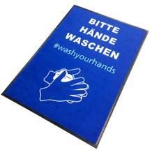 """Schmutzfangmatte - """"Bitte Hände waschen - washyourhands"""" - Hochformat"""