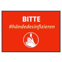 "Schmutzfangmatte - ""Bitte Hände desinfizieren"" - Querformat"