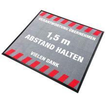 "Schmutzfangmatte - ""1,5 m Abstand halten"" - Quadrat"