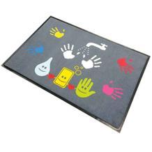 """Schmutzfangmatte - Motiv Hände: """"Kinder, Hände waschen"""" - Querformat"""