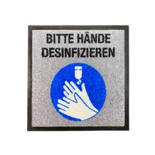 "Schmutzfangmatte - ""Bitte Hände Desinfizieren"" - Quadrat"