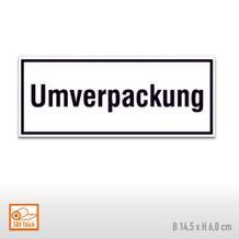 Paketaufkleber aus PE-Folie Umverpackung