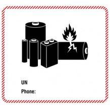 Transportaufkleber Batterie - 2 Sorten (UN und UN/Phone)